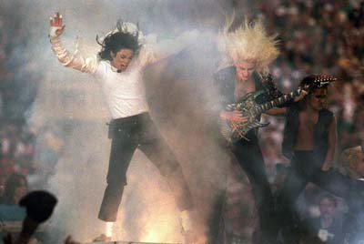Jennifer Batten and Michael Jackson superbowl