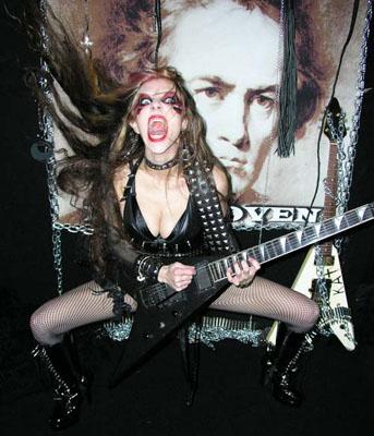 The Great Kat black guitar