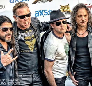 metallica at the golden gods awards black carpet