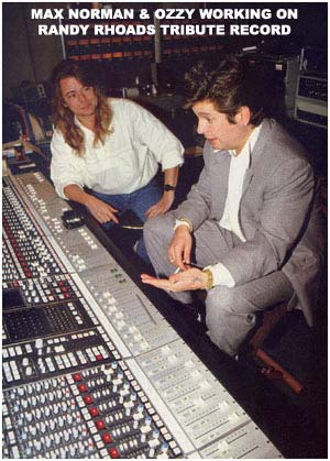 Max Norman and ozzy osbourne in studio
