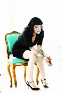 Bif Naked high heels