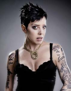Bif Naked tattoos short hair