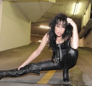 Ann Boleyn black leather