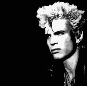 Billy Idol 1980s black and white