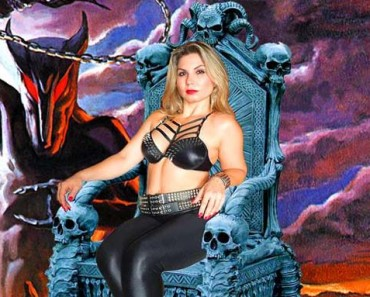 ladyevil on throne with dio cover