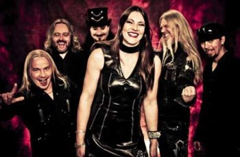 Nightwish band photo smilling 2014