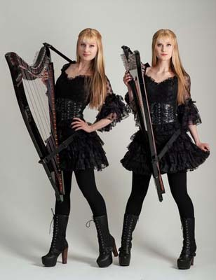 Camille and Kennerly in black dress and boots